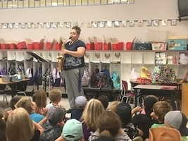 Mrs. Jody visits the Elementary