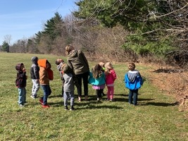 Transition Kindergarten Explores Outside