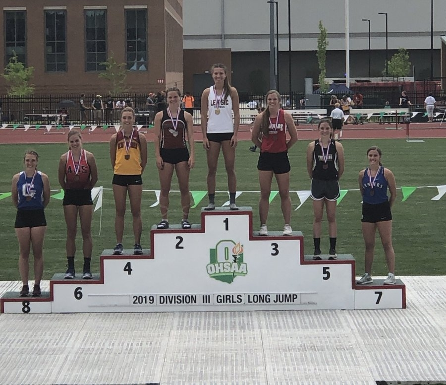 Izzy Hauler - All Ohio Long Jump - 5th Place 16'8''