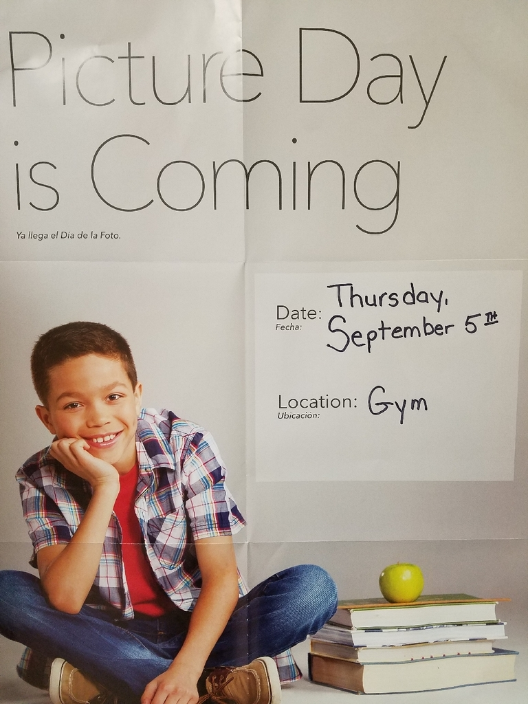 Picture Day, Thursday, September 5th