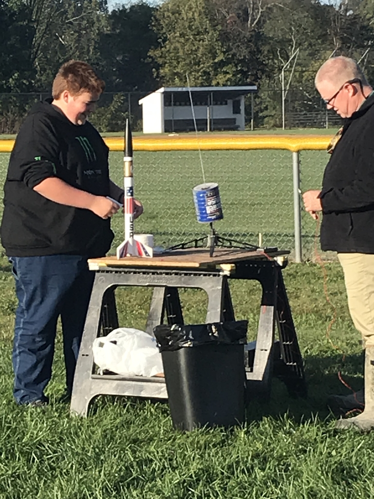 Students are Rocket Launching today in Science class